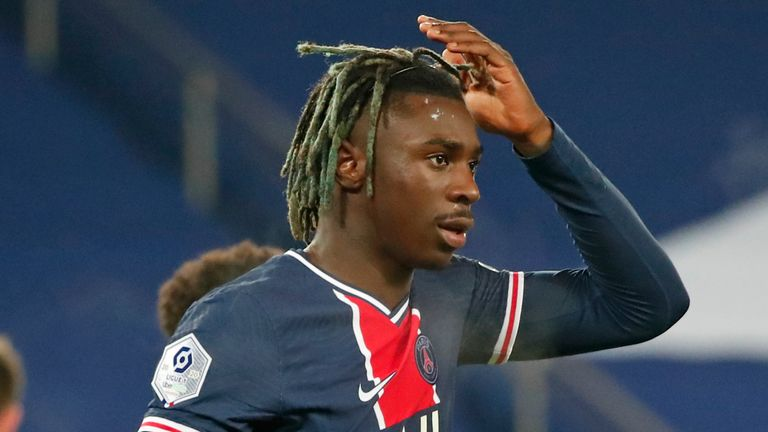 In-form Moise Kean opened the scoring to send Pochettino towards his first win in charge of PSG