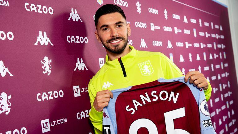 Morgan Sanson has joined Aston Villa from Marseille