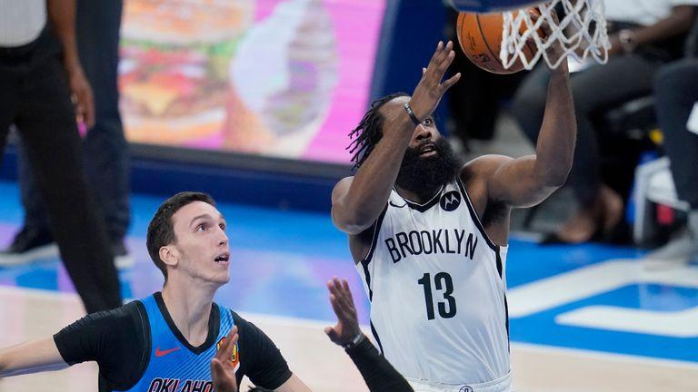 James Harden S Triple Double Leads Brooklyn Nets To Win Trae Young S 41 Carries Atlanta Hawks Past Washington Wizards Nba News Sky Sports