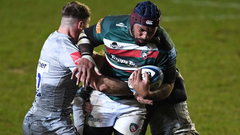 Nemani Nadolo grabbed a late try for Leicester against Sale