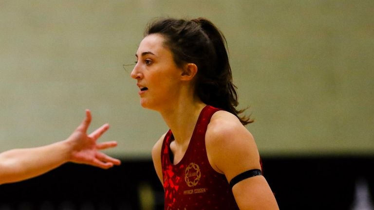 Beth Cobden made her return to court against the Vitality Netball Superleague All Stars on Wednesday(Credit: Ben Lumley)