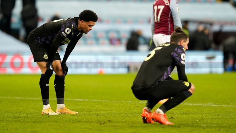 Newcastle's struggles continued at Villa Park