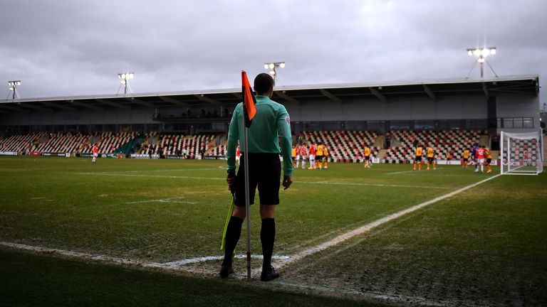 Newport County v Salford City - Sky Bet League Two - Rodney Parade