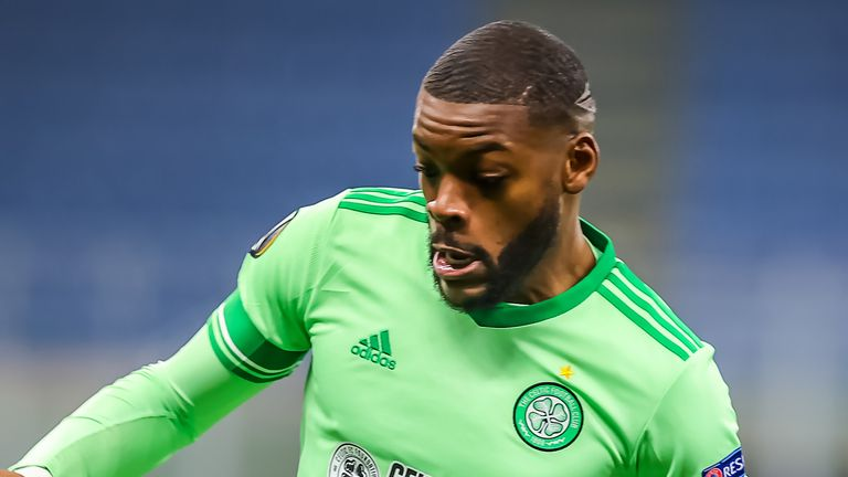 Celtic's Olivier Ntcham during the UEFA Europa League Group H match at the Giuseppe Meazza, Milan.