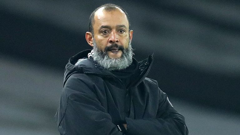 Nuno Espirito Santo's Wolves are winless in their last six Premier League games