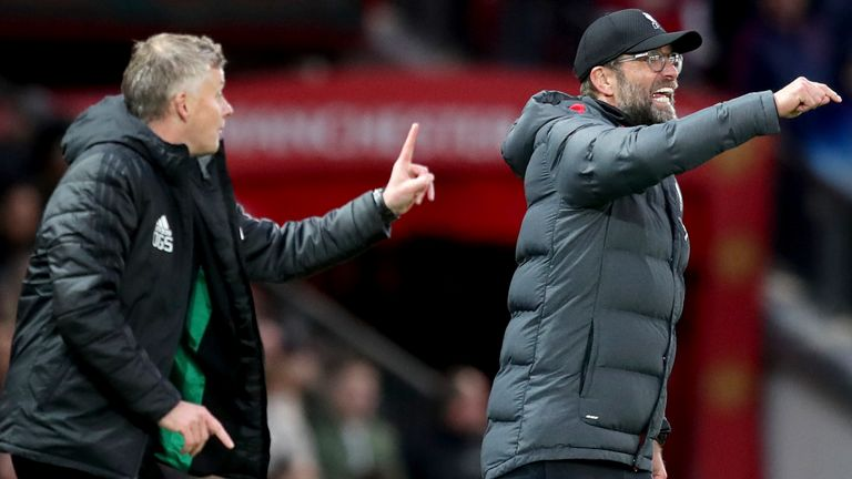 Ole Gunnar Solskjaer has responded to Jurgen Klopp's comparison of penalties received for both Manchester United and Liverpool
