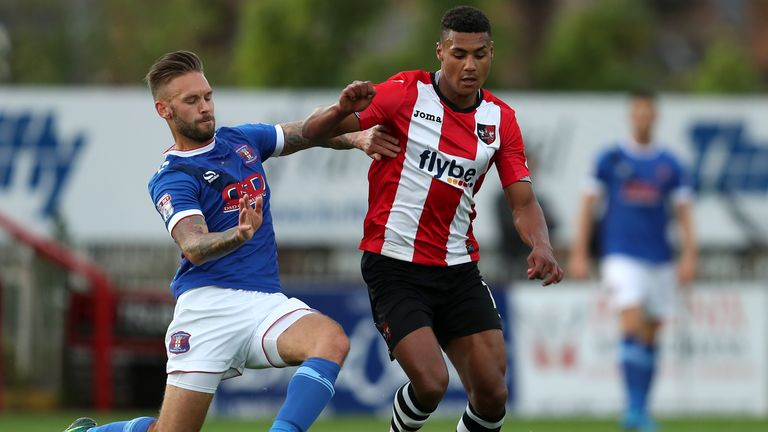 Ollie Watkins during his time at Exeter