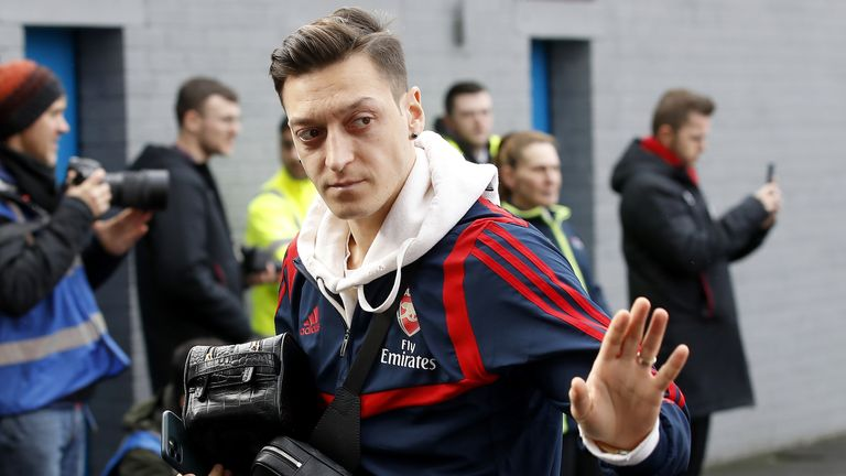Mesut Ozil scored 44 goals and registered 77 assists in 254 appearances for Arsenal