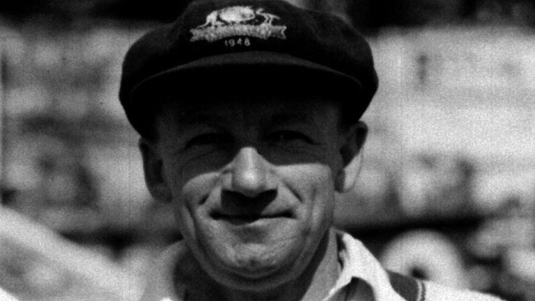 The legendary Don Bradman, pictured during Australia's 1948 tour of England