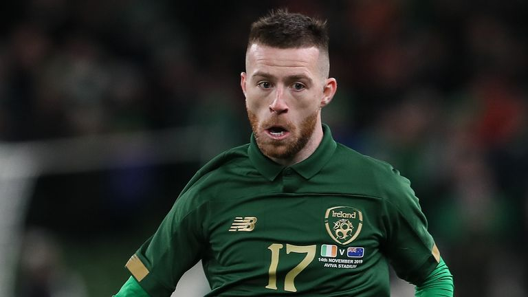 Republic of Ireland's Jack Byrne during the International Friendly against New Zealand at the Aviva Stadium, Dublin.