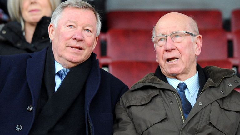 PA - Former Manchester United manager Sir Alex Ferguson and Sir Bobby Charlton pictured in 2013