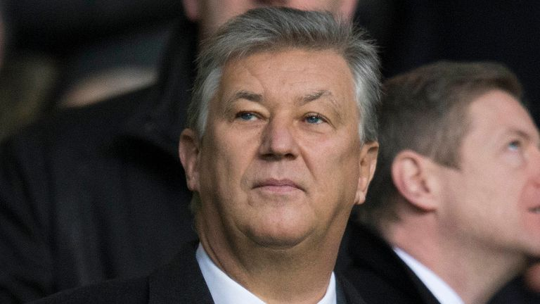 PA - Celtic Chief Executive Peter Lawwell during a Scottish Premiership match at Celtic Park, Glasgow.