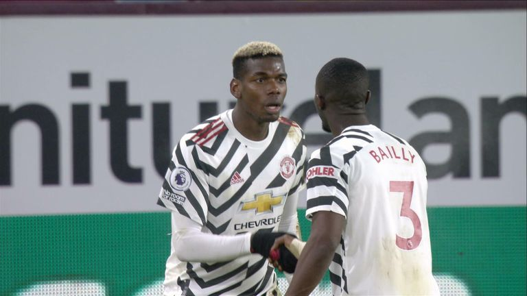 Pogba celebs v Burnley