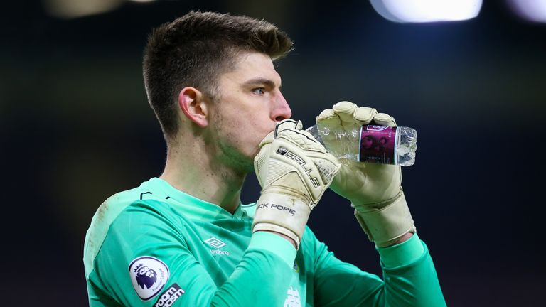 Goalkeeper Nick Pope will be available for Tuesday after an ankle injury