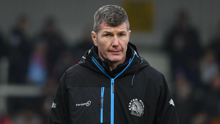 Rob Baxter's league leaders welcome second-placed Bristol to Sandy Park on Saturday
