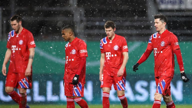 Robert Lewandowski came off the bench but couldn't stop the cup shock