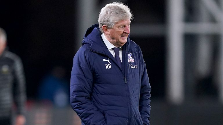 Crystal Palace manager Roy Hodgson says he has not discussed Christian Benteke with Sam Allardyce