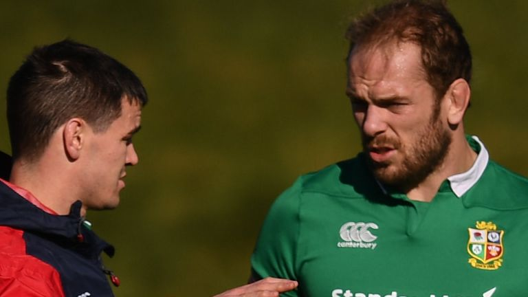 Alun Wyn Jones (right) and Johnny Sexton (left) have been involved in talks about Lions tour plans