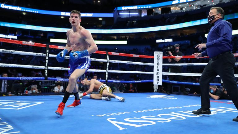 Campbell floored Garcia in the second round