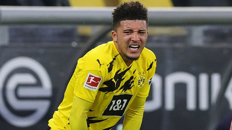 Jadon Sancho has scored twice in his last two league games