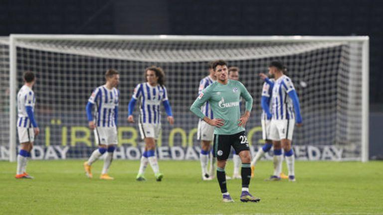 Schalke were soundly beaten by Hertha Berlin as their wait for a win goes on