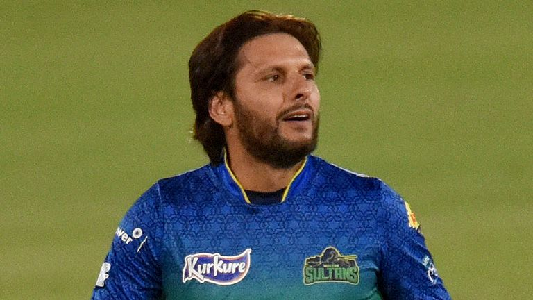 Multan Sultans all-rounder Shahid Afridi is out of the PSL with a back injury
