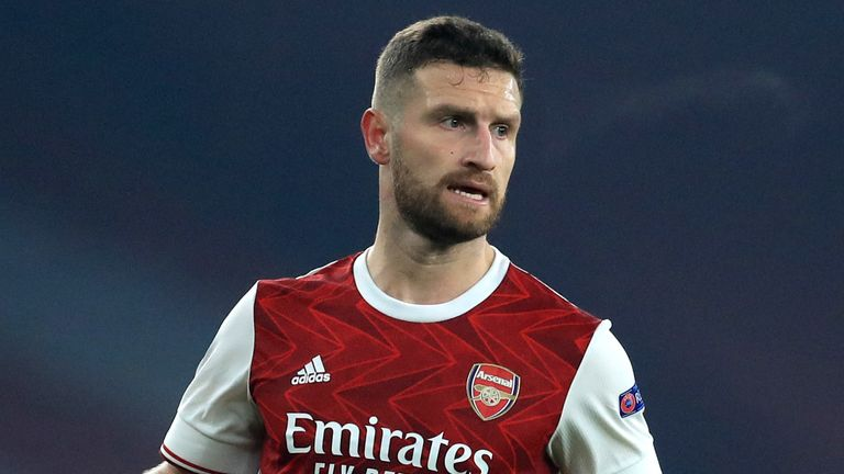 Shkodran Mustafi has had limited opportunities for Arsenal this season
