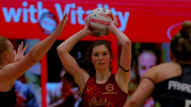 England beat the Vitality Superleague All Stars to complete a 3-0 series victory (Credit - Ben Lumley)
