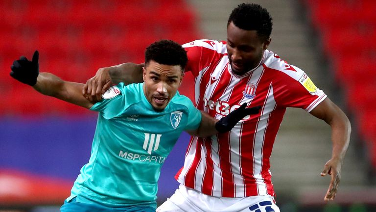 Action from Stoke vs Bournemouth