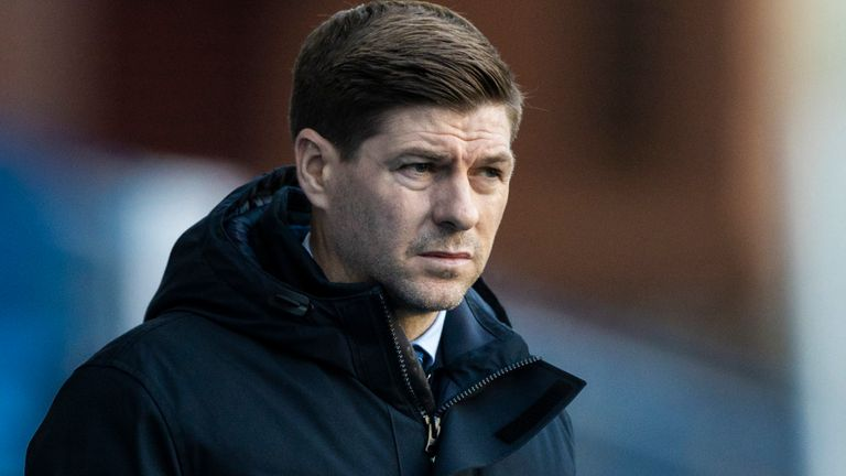 GLASGOW, SCOTLAND - JANUARY 02: Rangers manager Steven Gerrard during a Scottish Premiership match between Rangers and Celtic at Ibrox Stadium, on January 02, 2021, in Glasgow, Scotland (Photo by Craig Williamson / SNS Group)