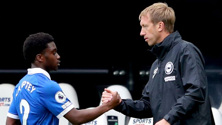 Brighton head coach Graham Potter believes Tariq Lamptey will only get better after signing a new deal at the club until 2025