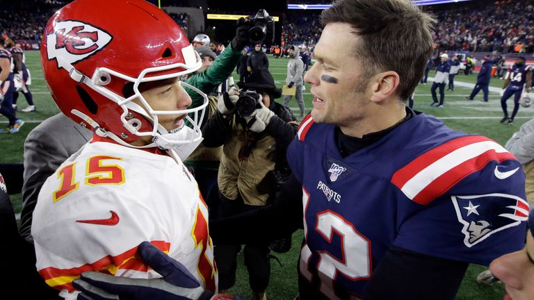 Mahomes and Brady met in the 2018 AFC title game, when Brady and the New England Patriots advanced in overtime (AP Photo/Steven Senne)