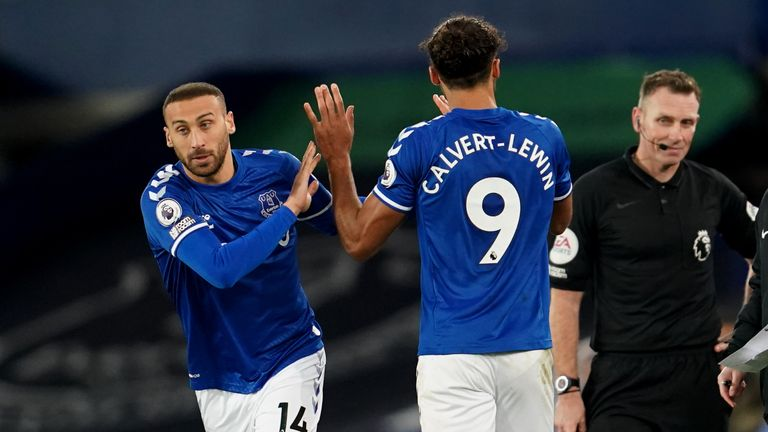 Cenk Tosun has made just five Premier League appearances this season, all from the substitutes bench
