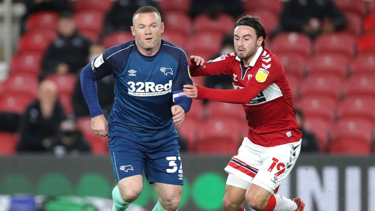 Rooney's final game as a player came on November 25, when Derby were beaten 3-0 by Middlesbrough