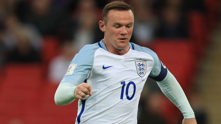Wayne Rooney scored 53 goals in 120 caps for England