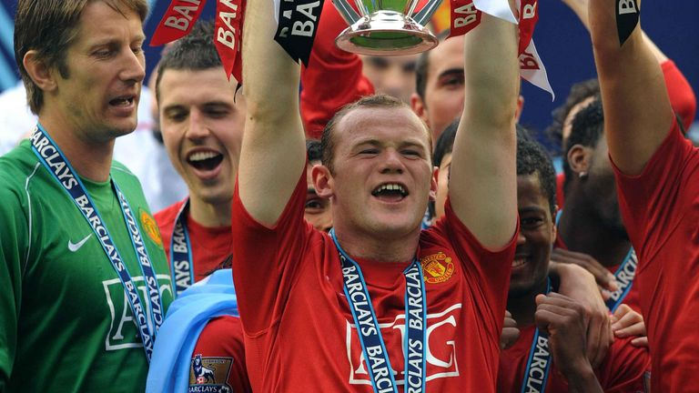 Wayne Rooney won five Premier League titles at Manchester United