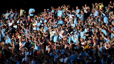 Should Manchester City continue on their course to win the Premier League, their fans could watch them lift the title at the Etihad, as the Prime Minister outlined his road map for easing coronavirus lockdown restrictions