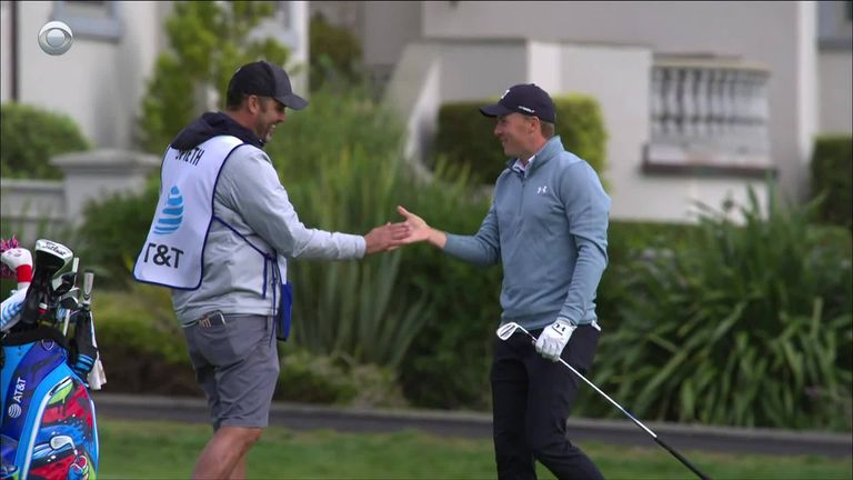 The top shots from day three of the AT&T Pebble Beach Pro-Am, where Jordan Spieth holed out for eagle at 16 and ended the round two shots clear of the field.