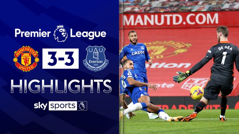 FREE TO WATCH: Highlights from Manchester United's draw with Everton in the Premier League