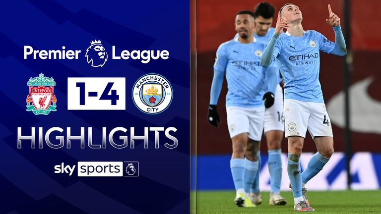 FREE TO WATCH: Highlights from Manchester City's win at Liverpool in the Premier League