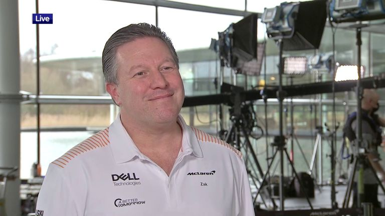 McLaren chief executive Zak Brown speaks to Sky Sports ahead of the team's car launch about 2021 prospects and the latest rules talks in F1.