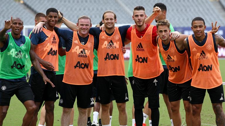 Adnan Januzaj with his former team-mates