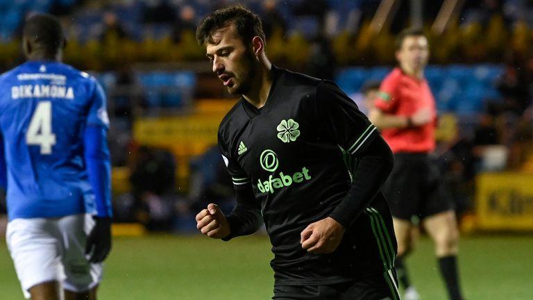 Albian Ajeti celebrates after making it 4-0