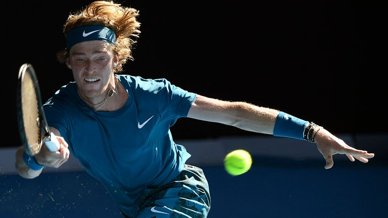 Andrey Rublev and Daniil Medvedev both suffered with the blistering heat in Melbourne