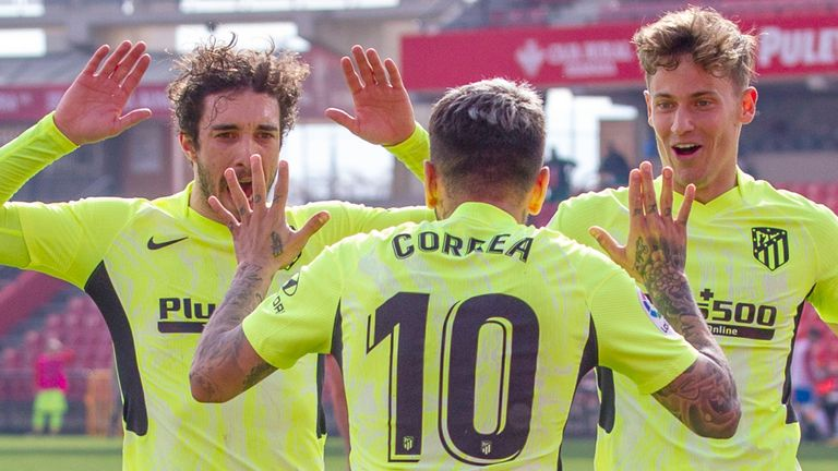 Angel Correra secured a late win for La Liga leaders Atletico Madrid