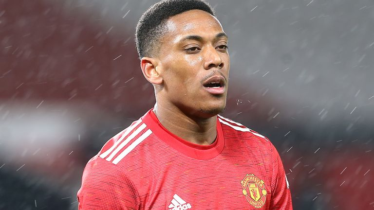 Manchester United forward Anthony Martial (PA image)
