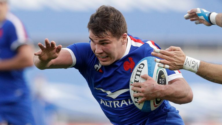 Dupont scored one try and created four in France's win over Italy last weekend