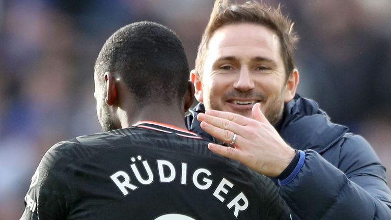 Antonio Rudiger denies he played a part in Frank Lampard's sacking as Chelsea boss (PA image)