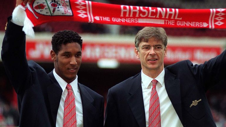Anelka joined Arsenal for £500,000 from Paris Saint-Germain