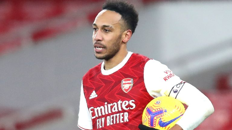 Pierre-Emerick Aubameyang has shown hunger to come through a difficult period, says Mikel Arteta